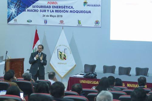 Ministro de Energía y Minas, Francisco Ísmodes. Foto: Difusión.