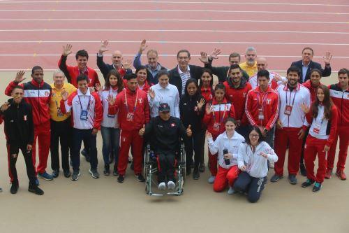 Presidente Vizcarra inaugura el 51 Campeonato Sudamericano de Atletismo e inspecciona obras de  recintos deportivos de Lima 2019