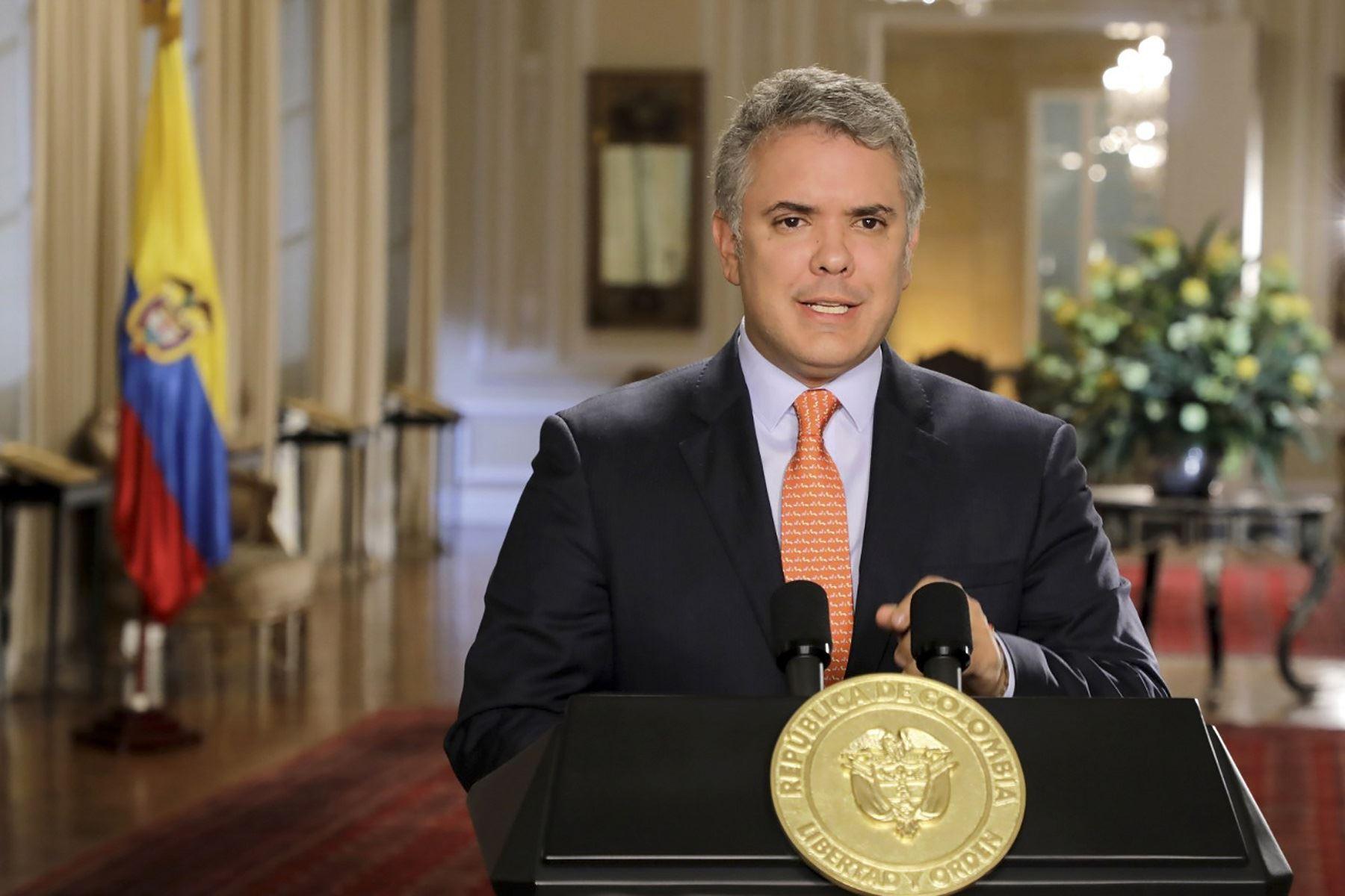 Presidente de Colombia, Iván Duque. Foto: AFP.