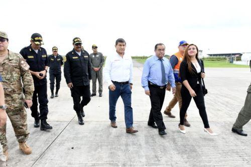 El ministro del Interior, Carlos Morán, llega a Pucallpa tras el sismo de magnitud 7.5 registrado esta madrugada