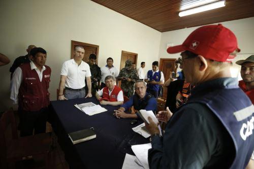 Primer Ministro Salvador del Solar, se reúne con autoridades de San Martín tras el sismo de magnitud 7.5