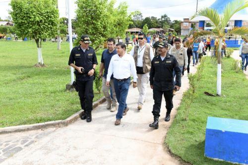 El ministro del Interior, Carlos Morán, llega a Pucallpa tras el sismo de magnitud 8.0 registrado esta madrugada