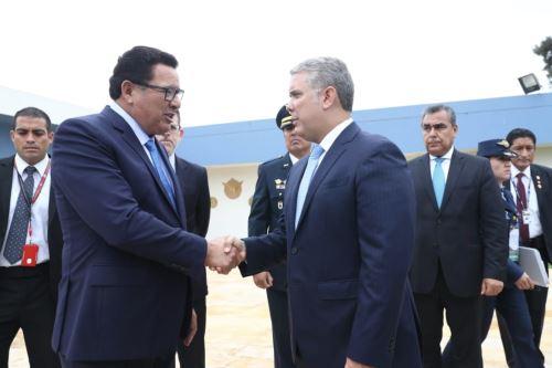 Presidente de Colombia , Iván Duque llega a Lima para participar de los 50 años de la CAN