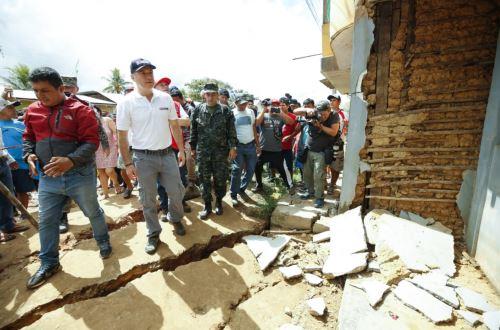 Primer Ministro Salvador del Solar se desplazó hasta la región San Martín para dirigir las primeras acciones de rehabilitación tras el fuerte sismo