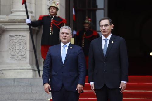 Presidente Vizcarra recibe en Palacio de Gobierno a sus homólogos de Ecuador, Colombia y Bolivia
