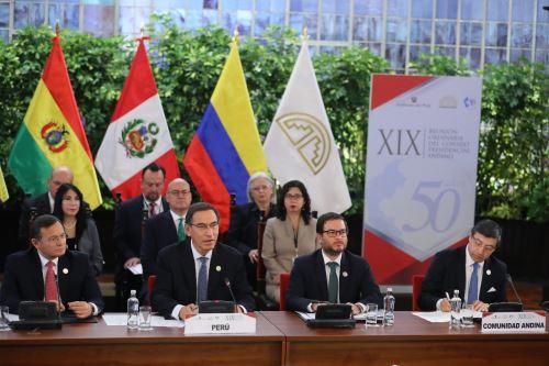 Presidente Vizcarra preside XIX Cumbre Presidencial de la Comunidad Andina