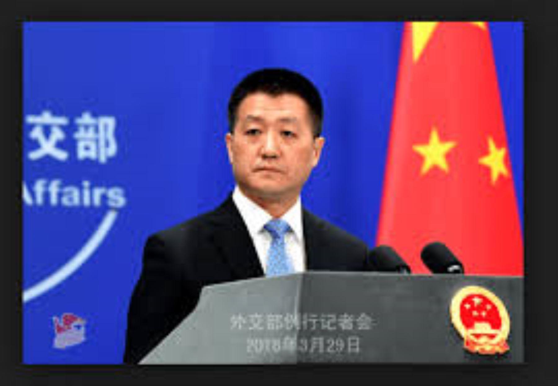 Portavoz del Ministerio de Relaciones Exteriores de China, Lu Kang.