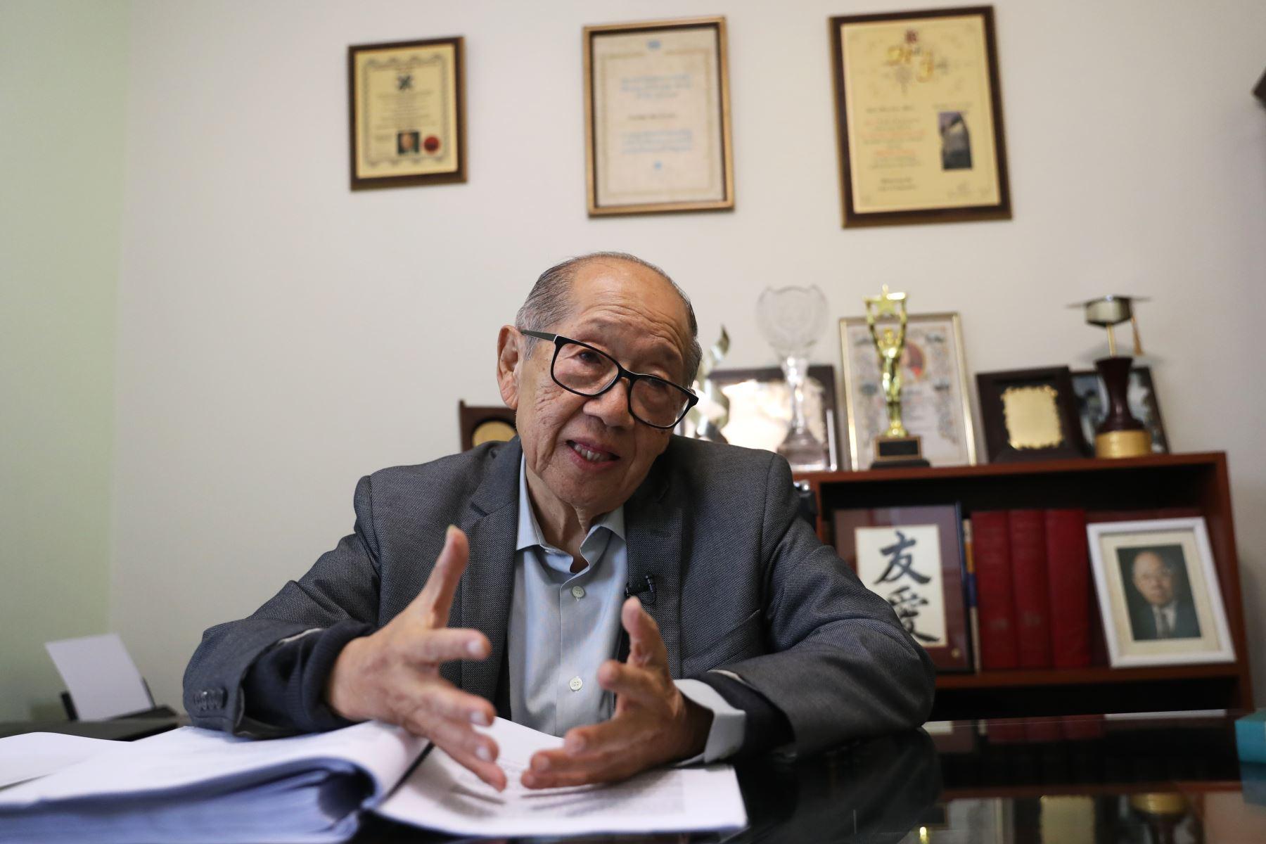 Kuroiwa fue profesor emérito de la UNI y era consultado en el Perú y en el extranjero por sus conocimientos en la prevención de desastres. Foto: ANDINA/Melina Mejía