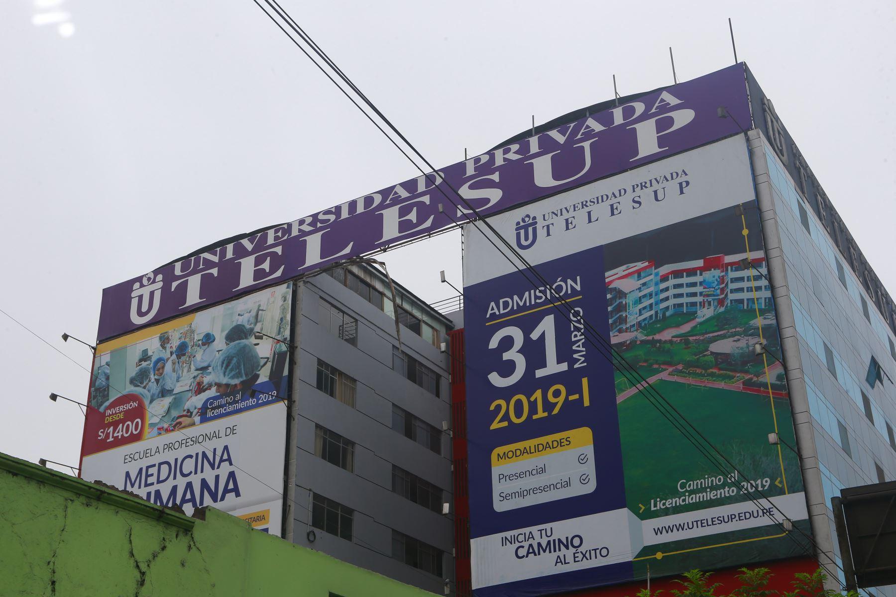 La universidad Telesup no podrá admitir en adelante a ningún estudiante. Foto: ANDINA/Héctor Vinces.