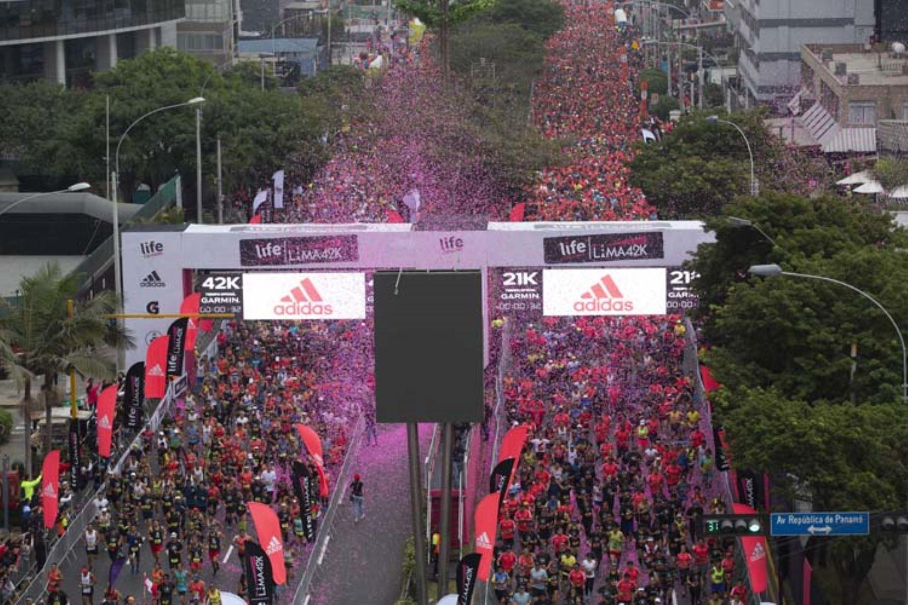 Imagen de la maratón Lima 42 K.