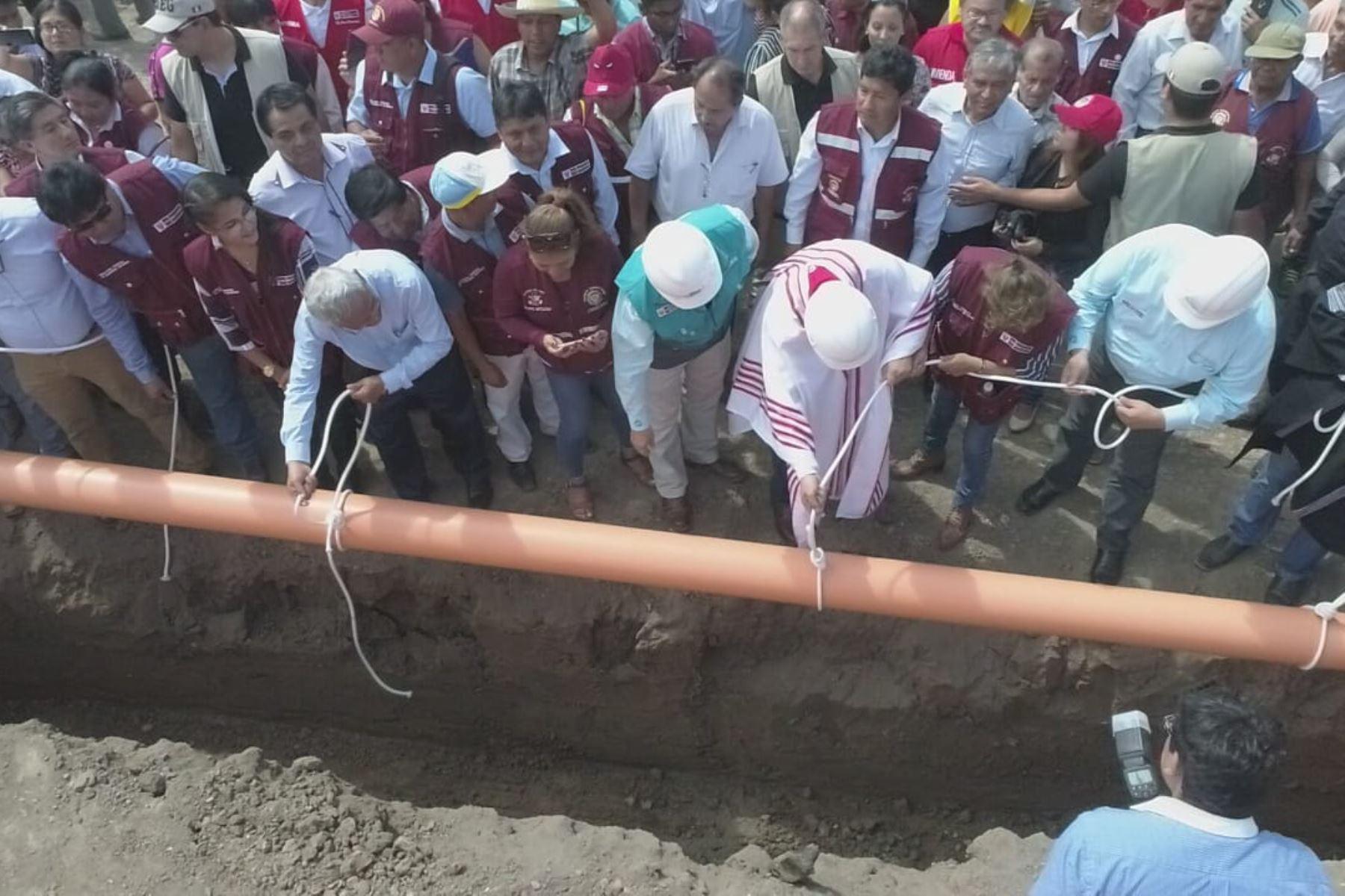Epsel Lambayeque ratifica ejecución de obra de saneamiento en Pomalca, Chiclayo.