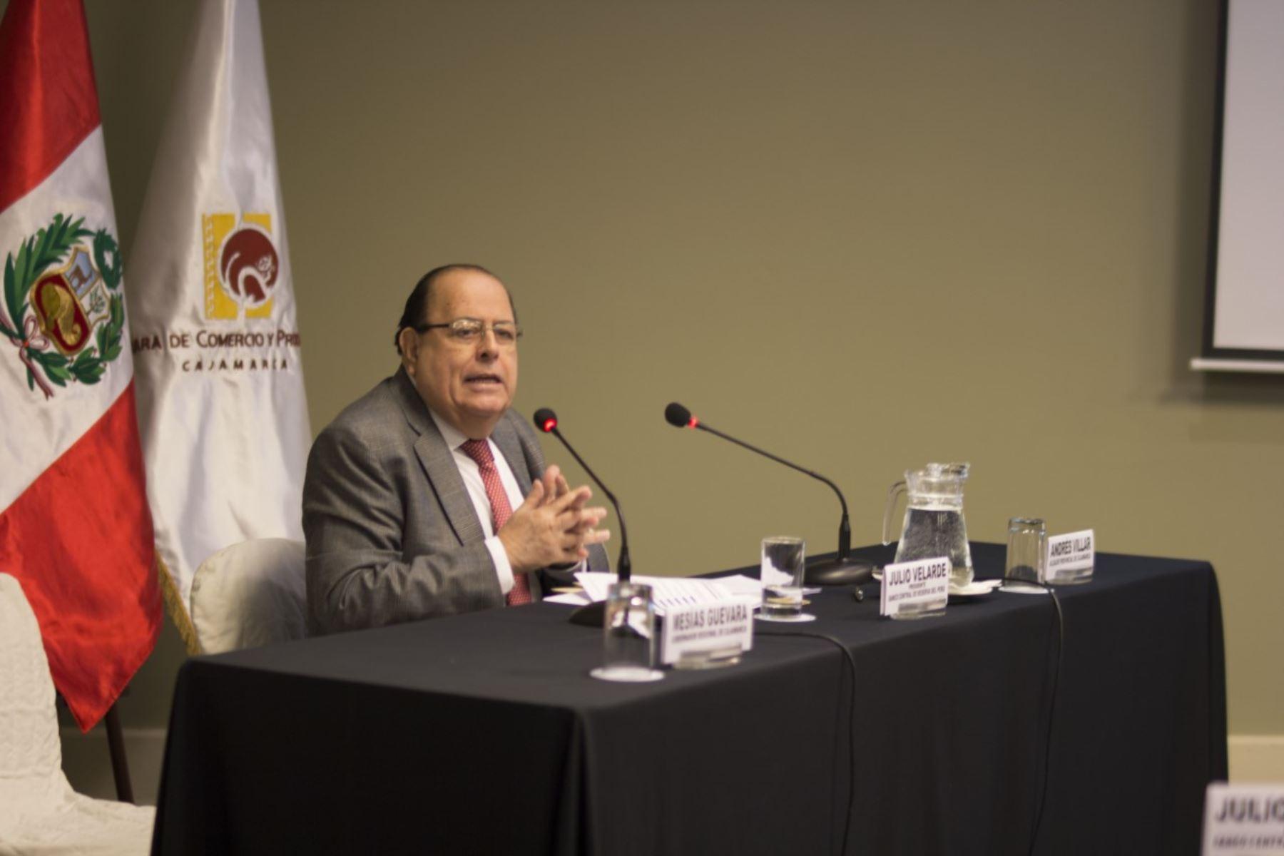 Presidente del BCR, Julio Velarde, en Cajamarca.