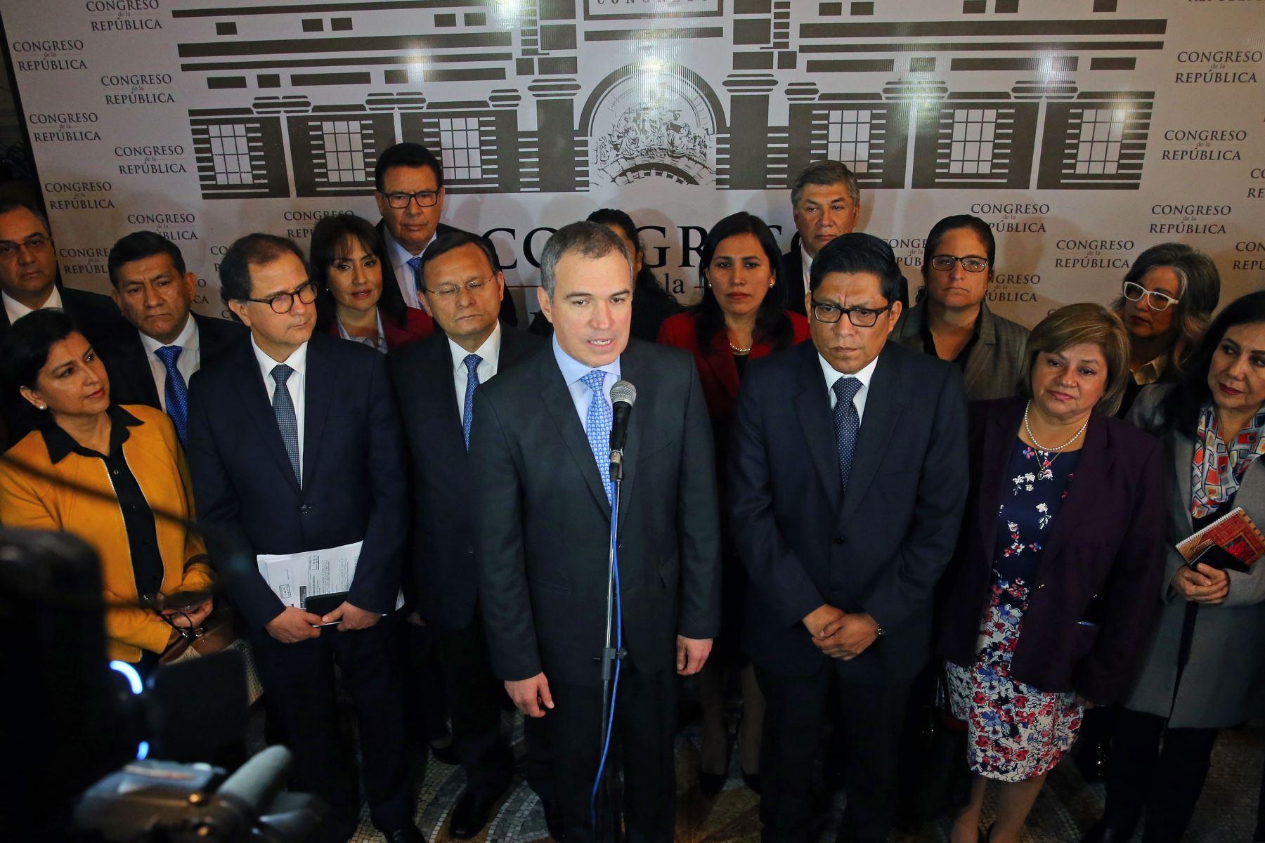 Declaraciones del jefe del Gabinete, Salvador del Solar. Foto: ANDINA/Vidal Tarqui