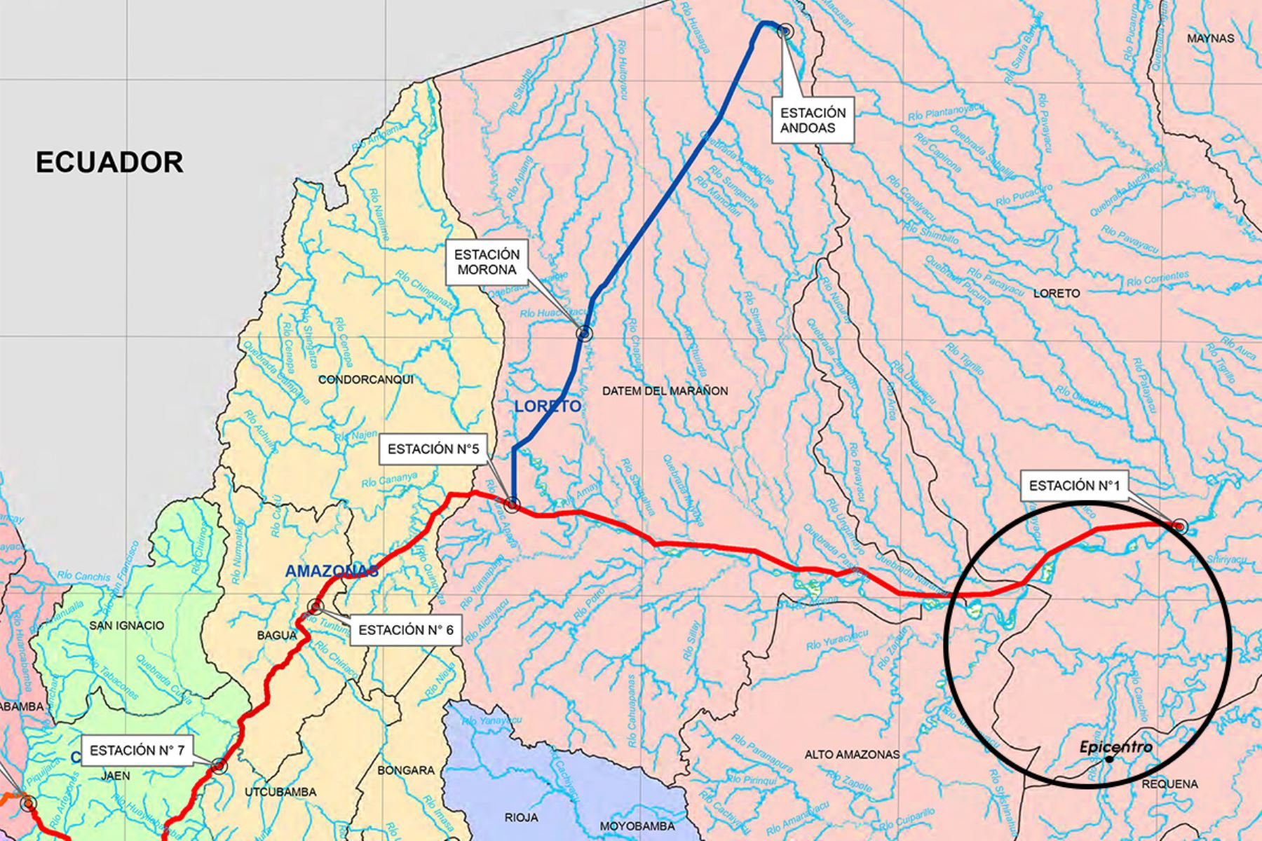 Sismo en Loreto habría provocado un afloramiento de petróleo en un tramo del Oleoducto Norperuano, reportó Petroperú. ANDINA/Difusión