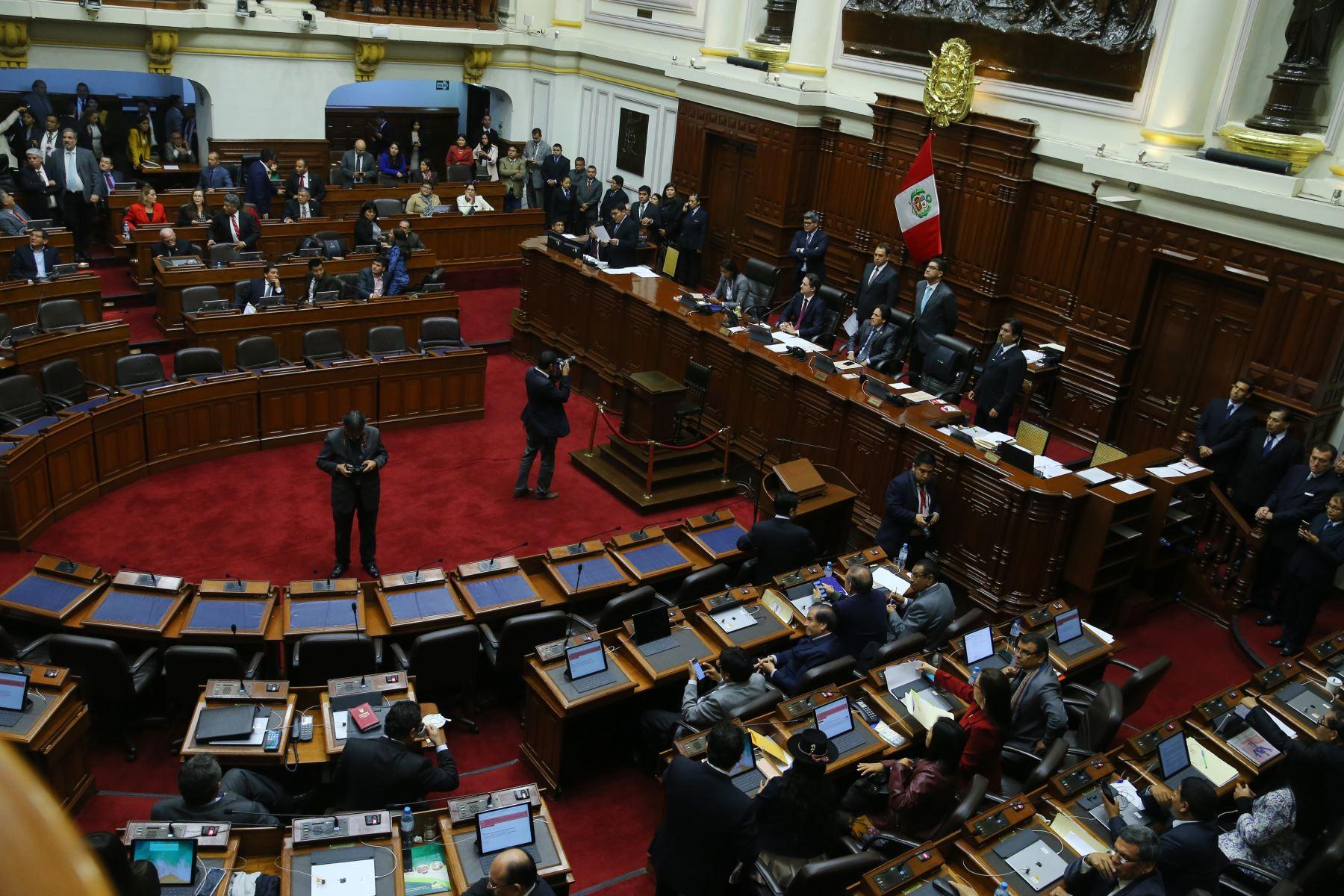 Pleno del Congreso. Foto: ANDINA/Vidal Tarqui.
