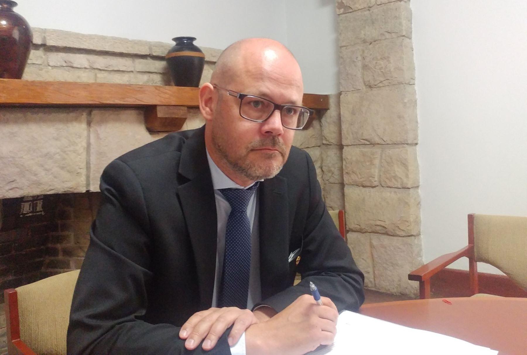 Viceministro de Comercio Exterior y Promoción de Suecia, Niklas Johansson, Foto: Andina.