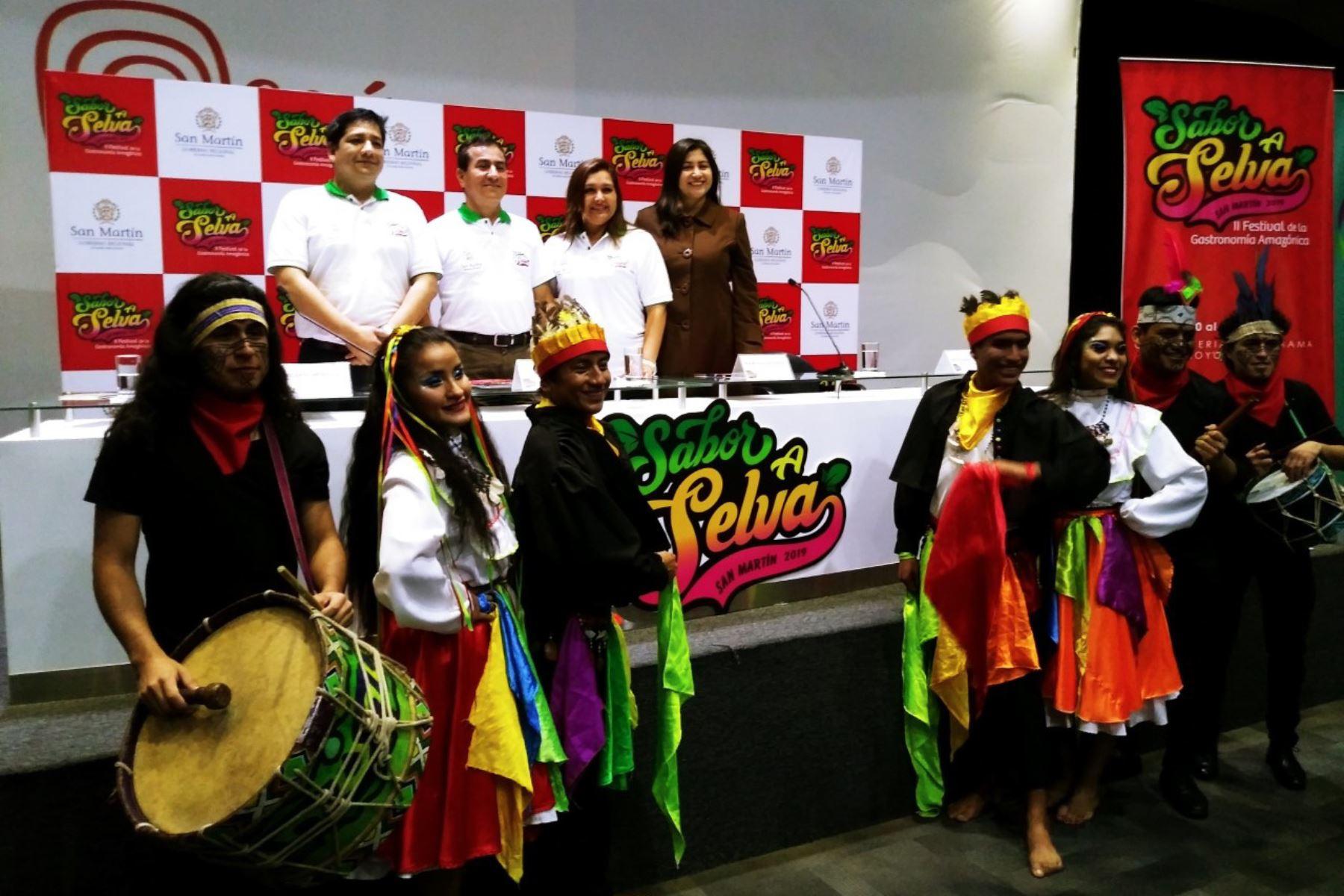 """Lanzamiento de la segunda edición del Festival de la Gastronomía Amazónica """"Sabor a Selva"""", a realizarse del 20 al 23 de junio en la provincia de Moyobamba, región San Martín. Foto: Luis Zuta Dávila.ANDINA/Difusión"""
