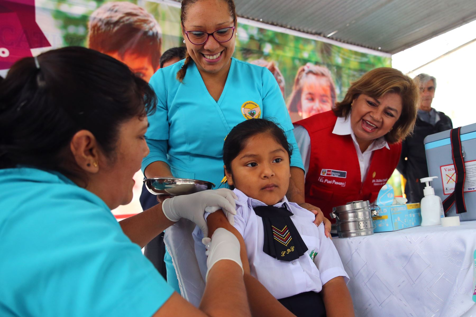 Campaña nacional de vacunación contra el sarampión, rubéola y polio termina este lunes 15 de julio. ANDINA/Vidal Tarqui