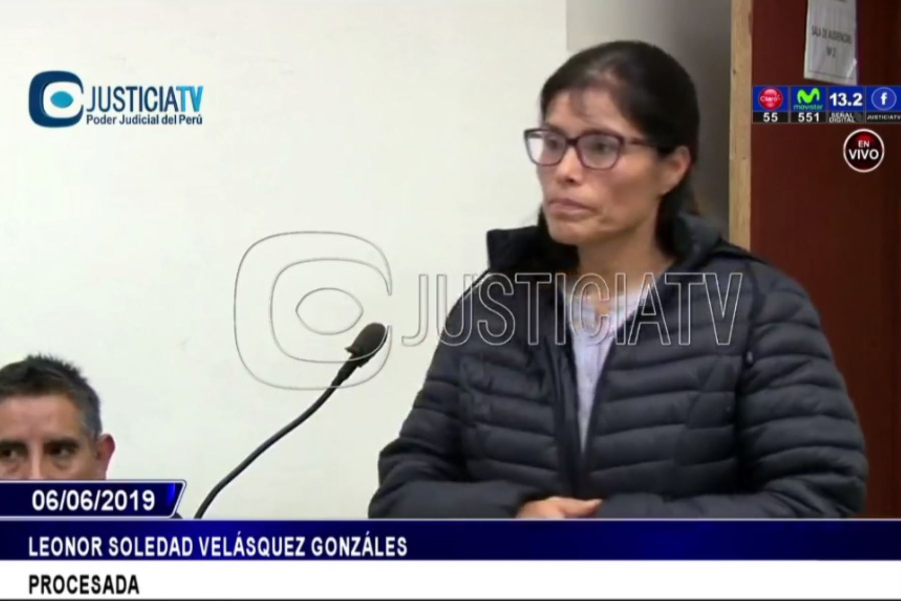 Profesora expuso por breves minutos durante audiencia. Foto: Captura