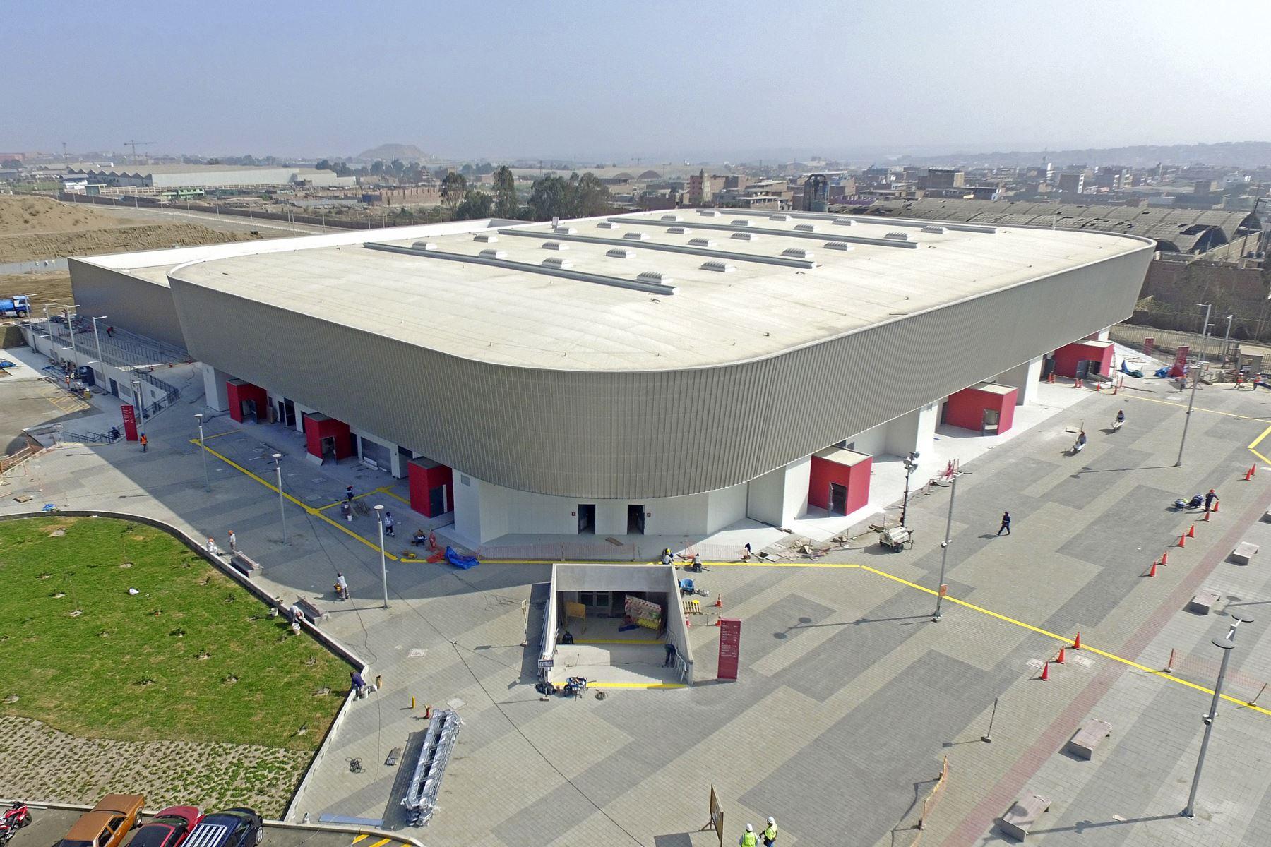 Avance de obras de Lima 2019 en Polideportivo de Villa El Salvador. Foto: Lima 2019
