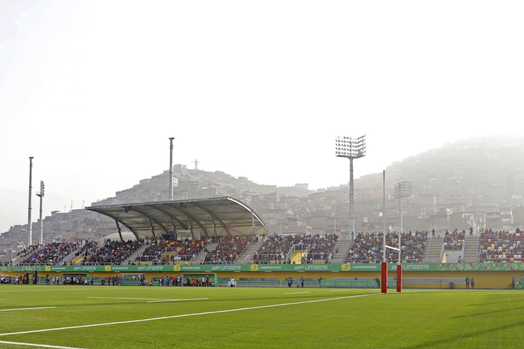 Gran cantidad de público asistió al Estadio de Rugby ubicado dentro del complejo deportivo de Villa María del Triunfo. Foto:Lima 2019