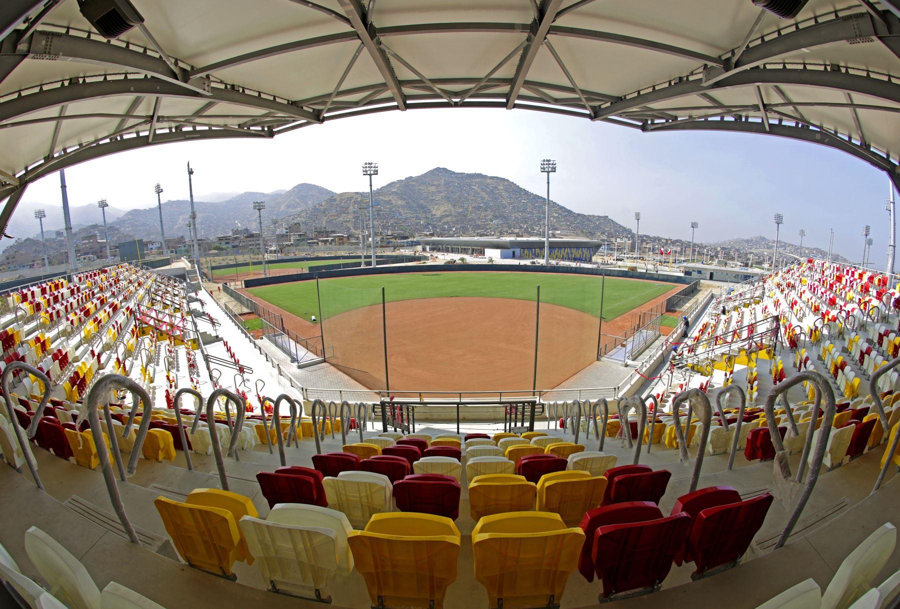 Estadio de Softbol en Villa Maria del Triunfo. Foto:Lima 2019