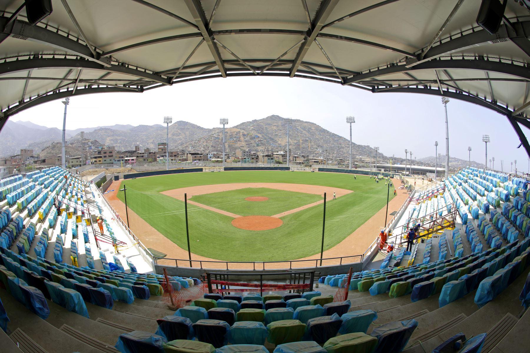 Estadio de Beisbol en Villa María del Triunfo. Foto: Lima 2019