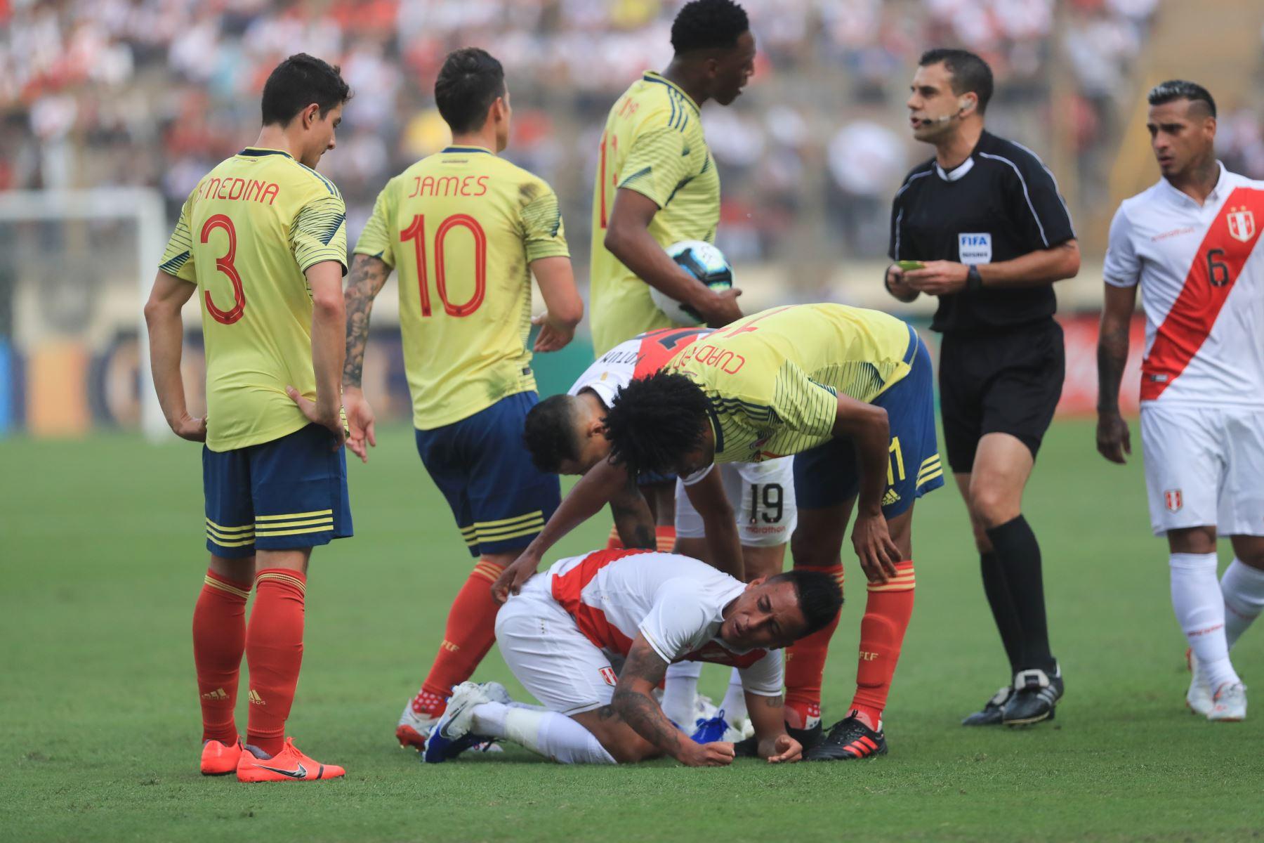 Perú perdió 3-0 con Colombia en su último amistoso con miras a la Copa América  Foto: ANDINA/Juan Carlos Guzmán Negrini.