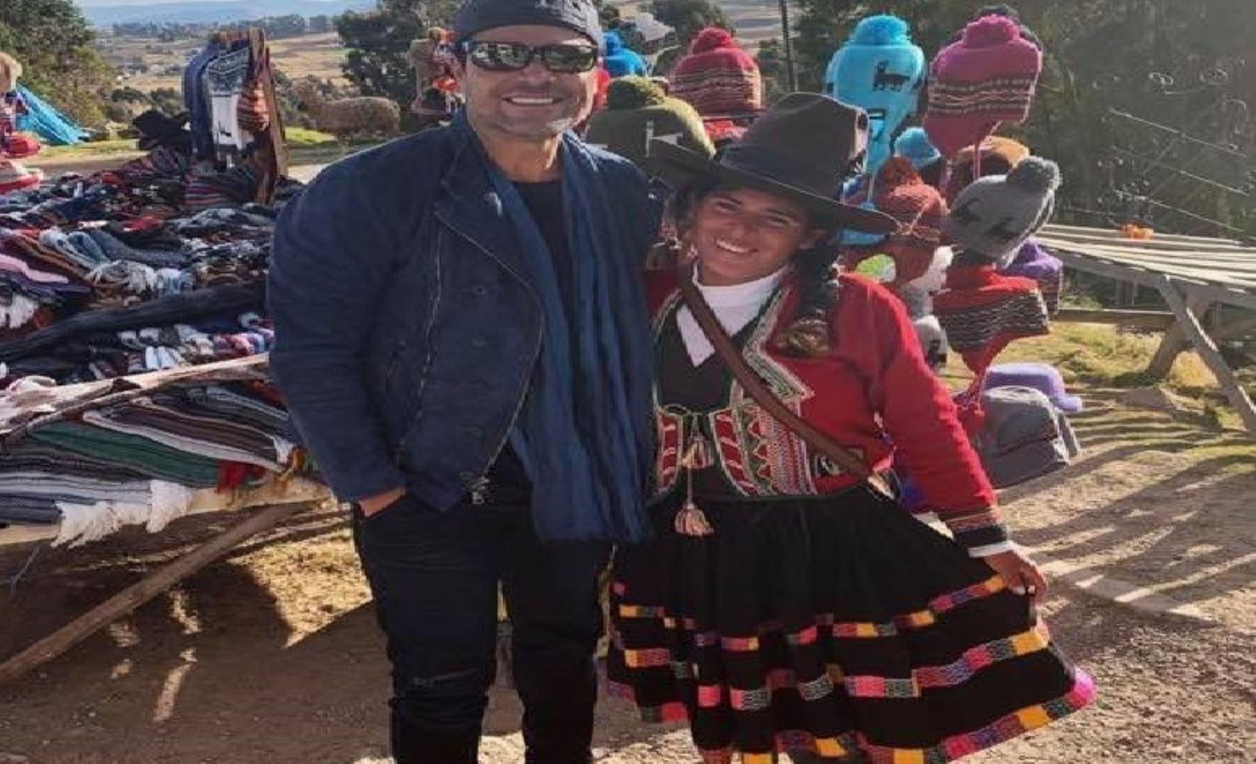 Chayanne ya disfruta del Cusco | Noticias | Agencia Peruana