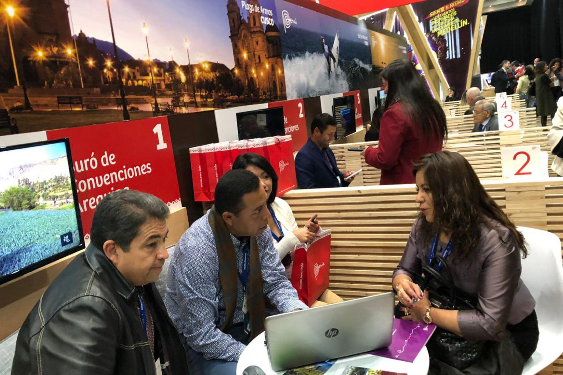 Arequipa, Cusco, Lima y Loreto se promueven como destinos de turismo de reuniones en feria Fiexpo Chile. ANDINA/Difusión