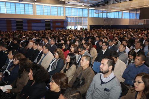Gestores y gestoras de las oficinas de recursos humanos de Lima recibieron capacitación en Universidad Católica. Foto: ANDINAANDINA/Difusión