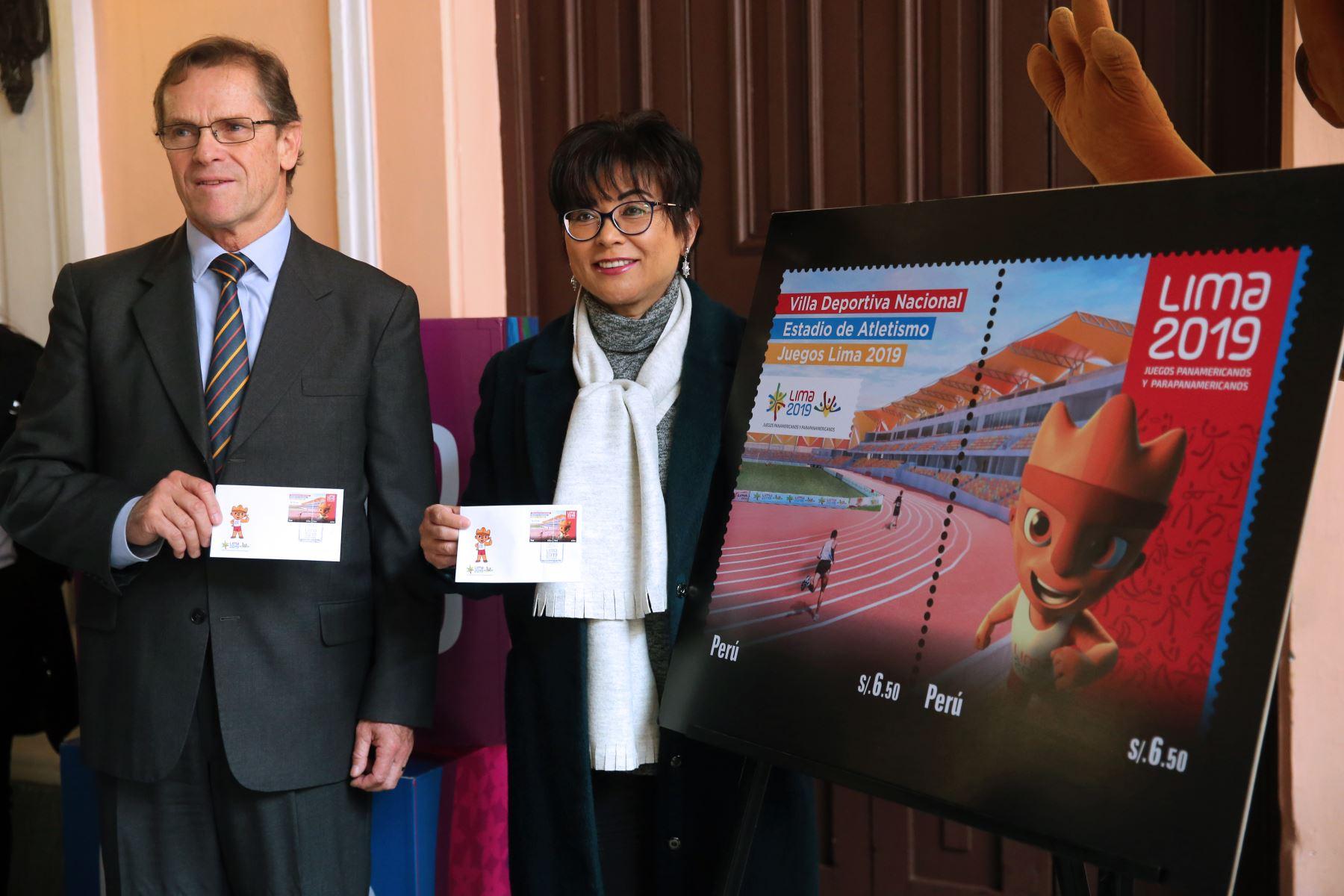 Lima 2019 y Serpost presentan las Estampilla alusiva a los juegos Panamericanos y Para panamericanos. Foto: ANDINA/Vidal Tarqui
