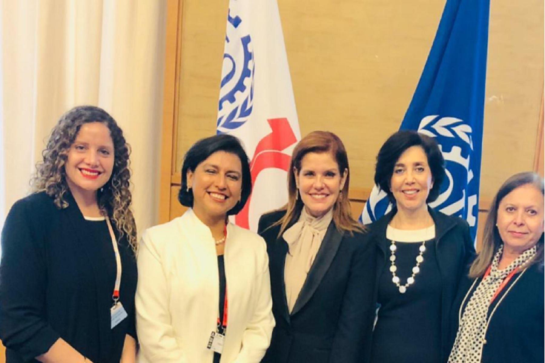 Mercedes Aráoz encabezó delegación de mujeres en conferencia por los 100 años de la OIT