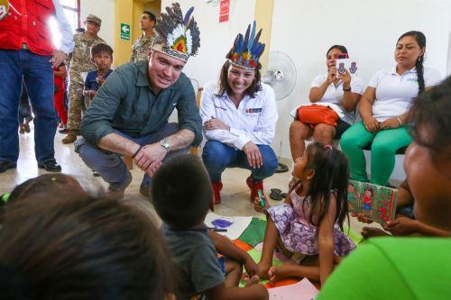 Jefe del Gabinete, Salvador del Solar, supervisó atención que brinda el programa Qali Warma en Iquitos