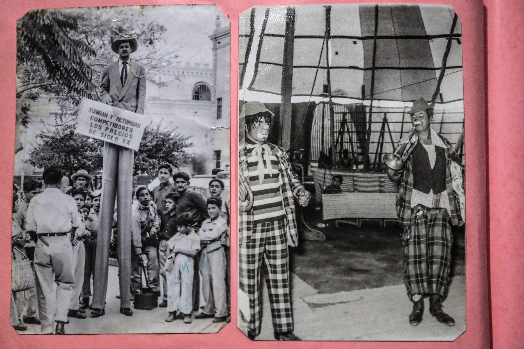 """Recuerdo tantas cosas en esta vida de circo, me han contratado circos chicos y medianos. También un gran circo, eran chilenos y otro gran circo para fiestas patrias. Mi circo se llamaba el """"Circo Farfán"""", después cuando ya vinieron mis hijos lo llamamos Hermanos Farfán. Foto: ANDINA/Carlos Lezama"""