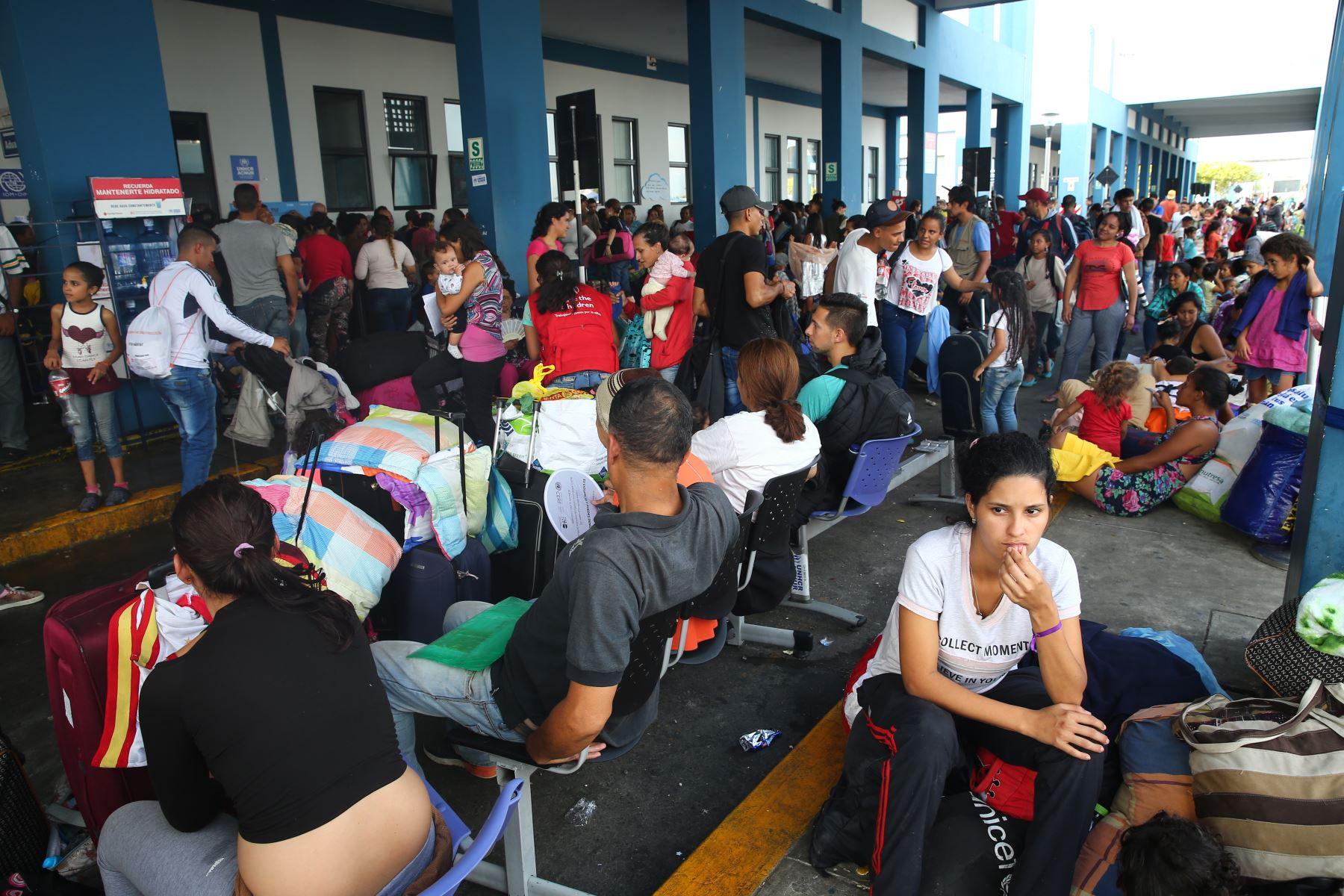 Migración venezolana. Foto: ANDINA/Luis Iparraguirre