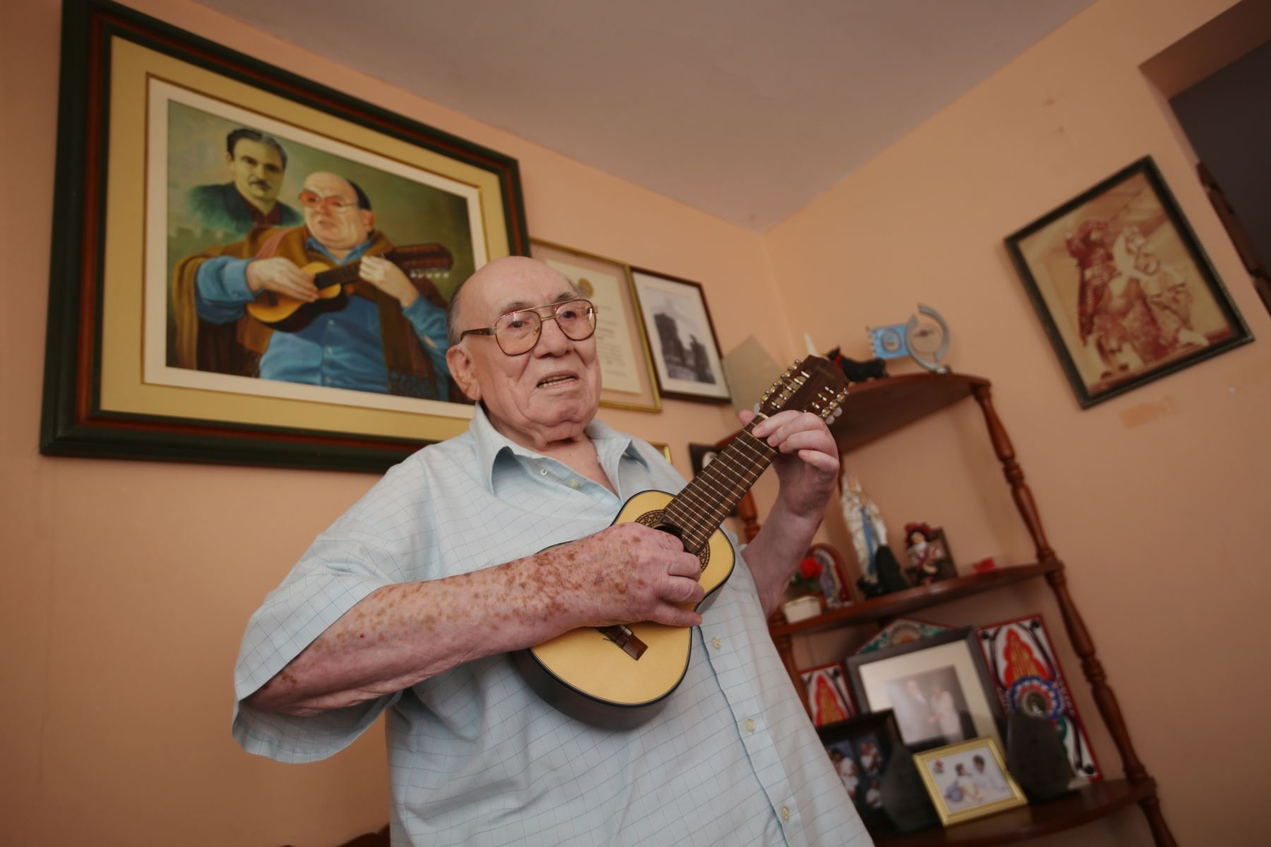 Retrato del charanguista Jaime Guardia. Foto: Difusión