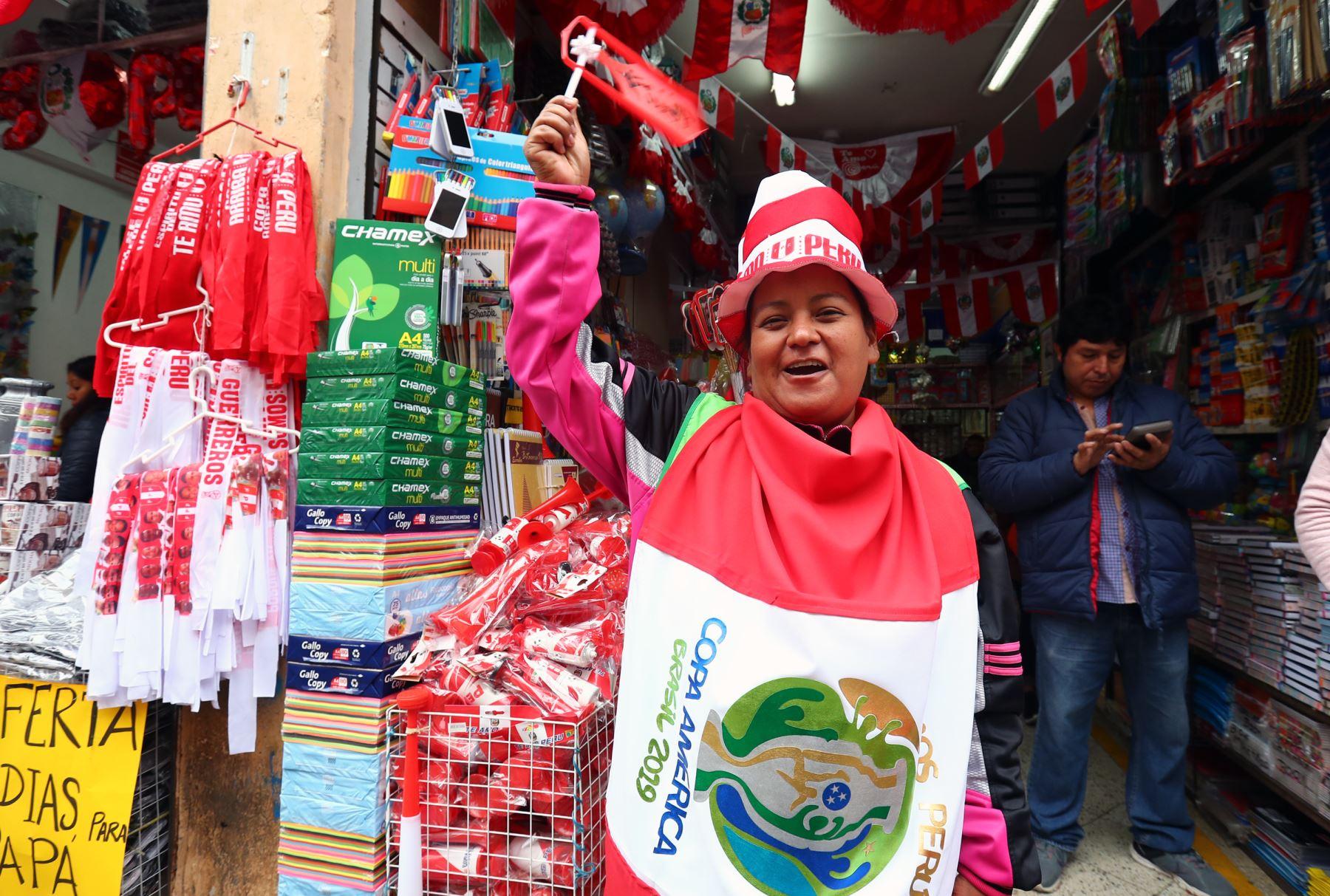 Hinchas de la selección peruana  antes del partido   de Perú Venezuela Foto: ANDINA/Norman Córdova
