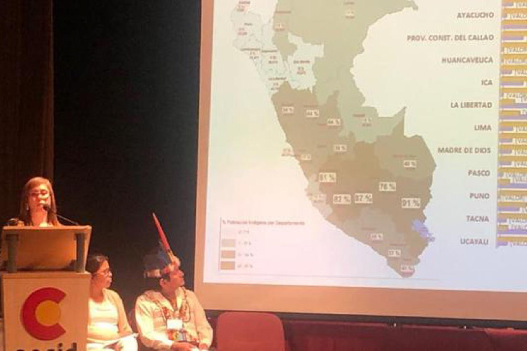 Elena Burga Cabrera, viceministra de Interculturalidad del Ministerio de Cultura, participa en reunión regional del consejo directivo del Fondo para el Desarrollo de los Pueblos Indígenas de América Latina y El Caribe (FILAC), en Bolivia.
