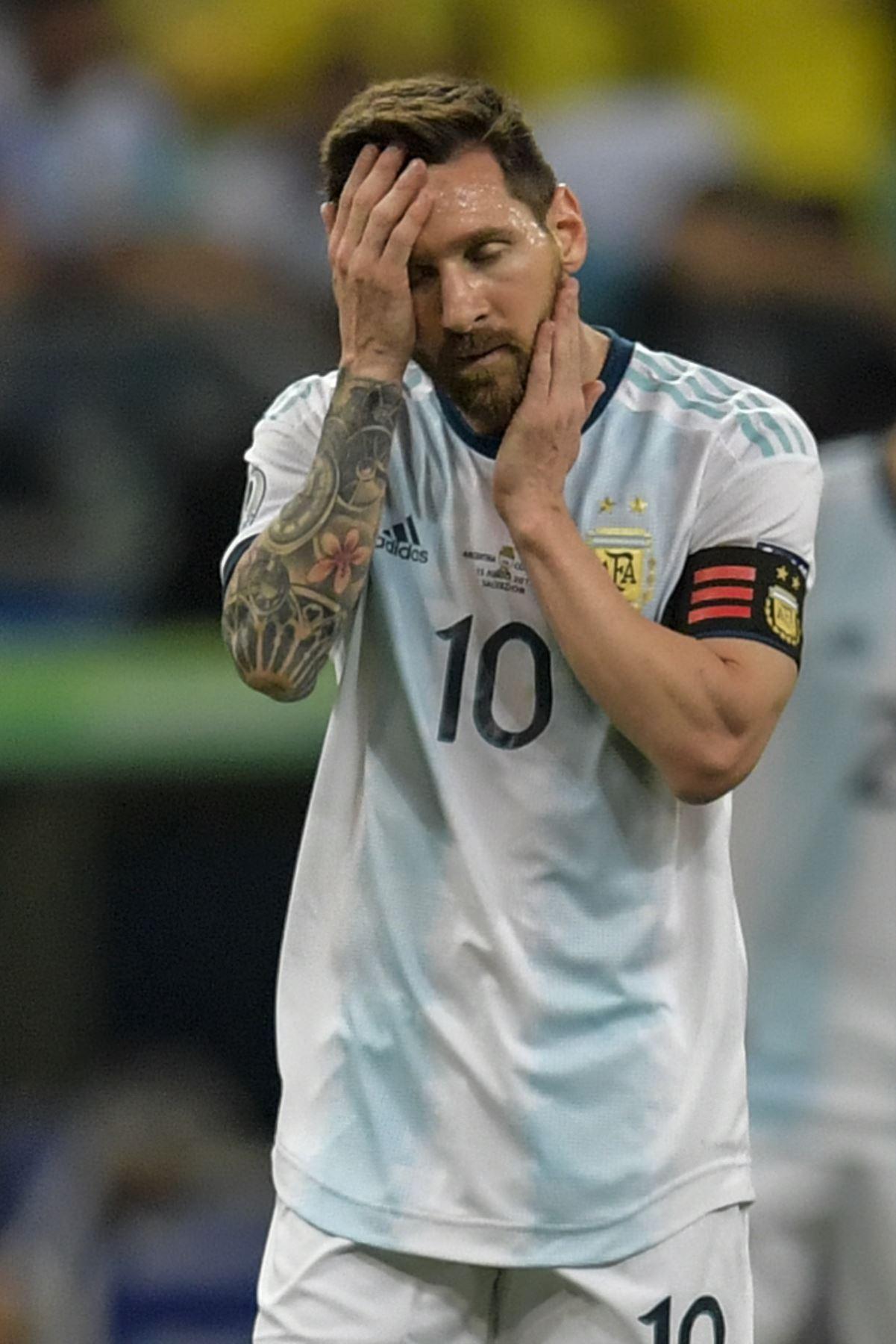 Los gestos de Lionel Messi de Argentina durante la Copa América de fútbol. AFP