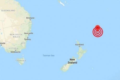Ubicación de sismo en mar cercano a Nueva Zelanda. Foto: Captura.