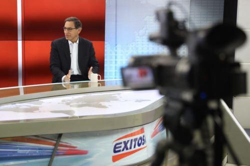 Presidente de la República, Martín Vizcarra en entrevista con Radio Exitosa