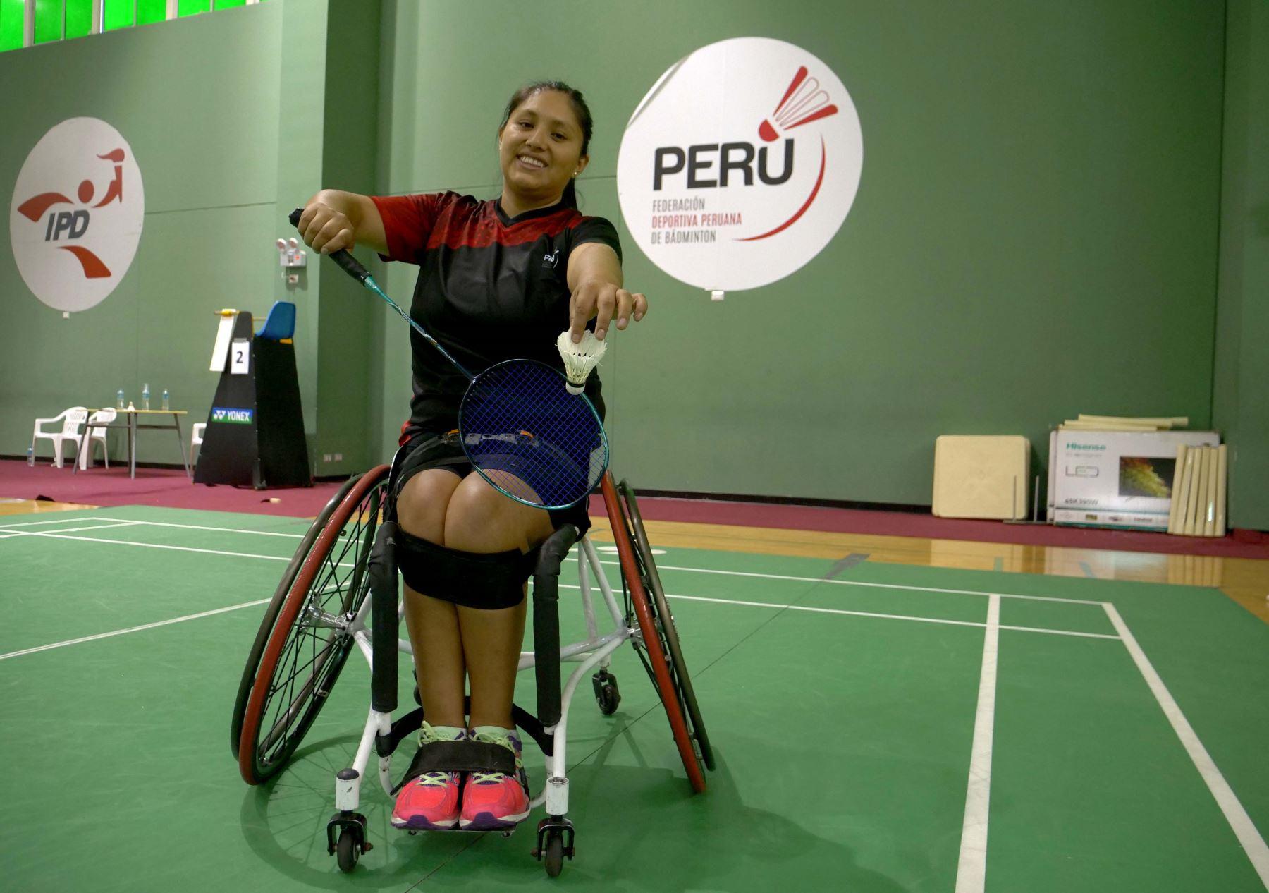 Pilar Jáuregui, parabadmintonista peruana. ANDINA/Difusión