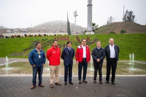 Presidente Vizcarra inspecciona sede de los Juegos Panamericanos en Villa María del Triunfo