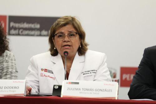 Ministra de Salud, Zulema Tomás. Foto: ANDINA/Prensa Presidencia
