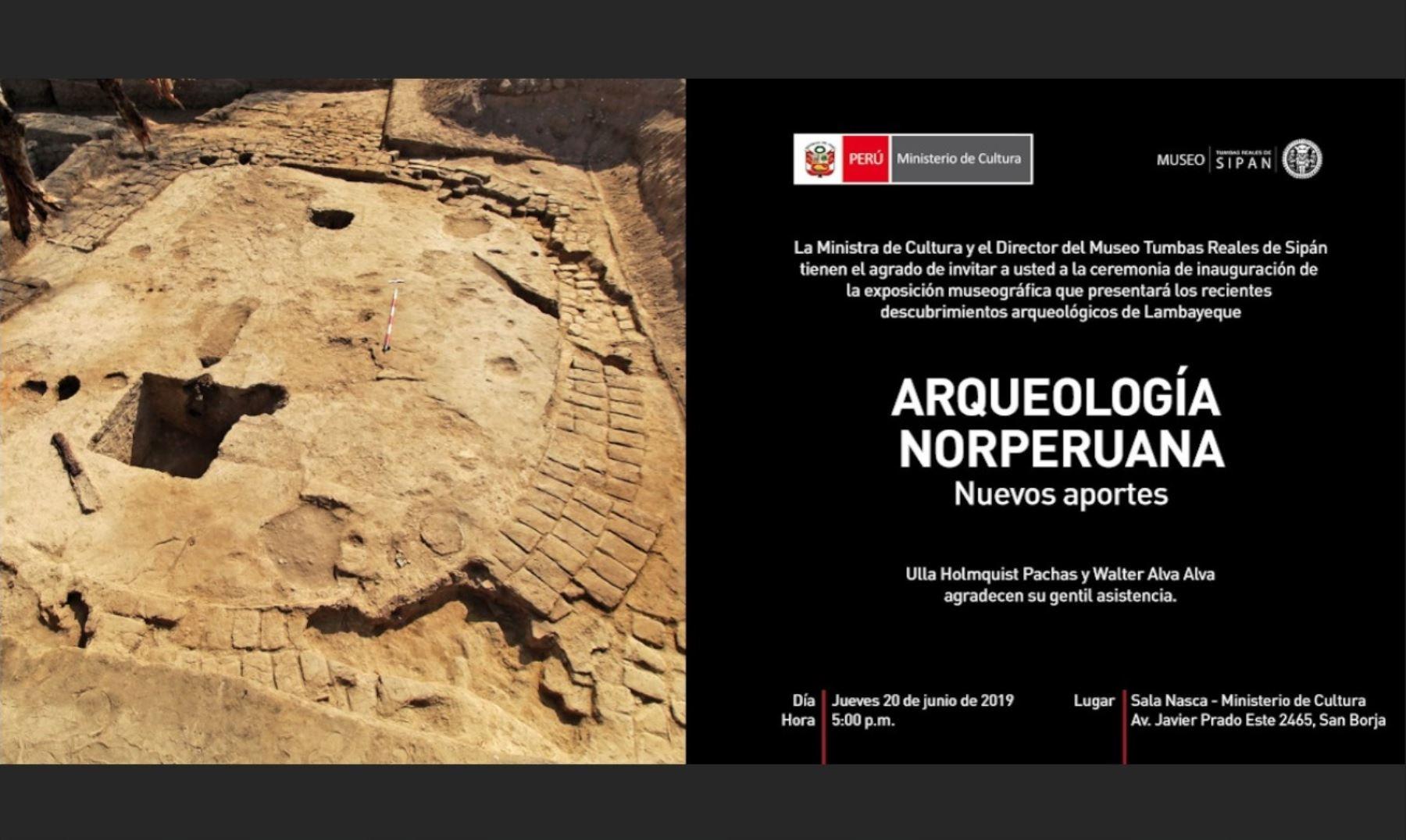 ANDINA/DifusiónRecientes hallazgos arqueológicos en Lambayeque se exhiben desde hoy en el Museo de la Nación de Lima. ANDINA/Difusión