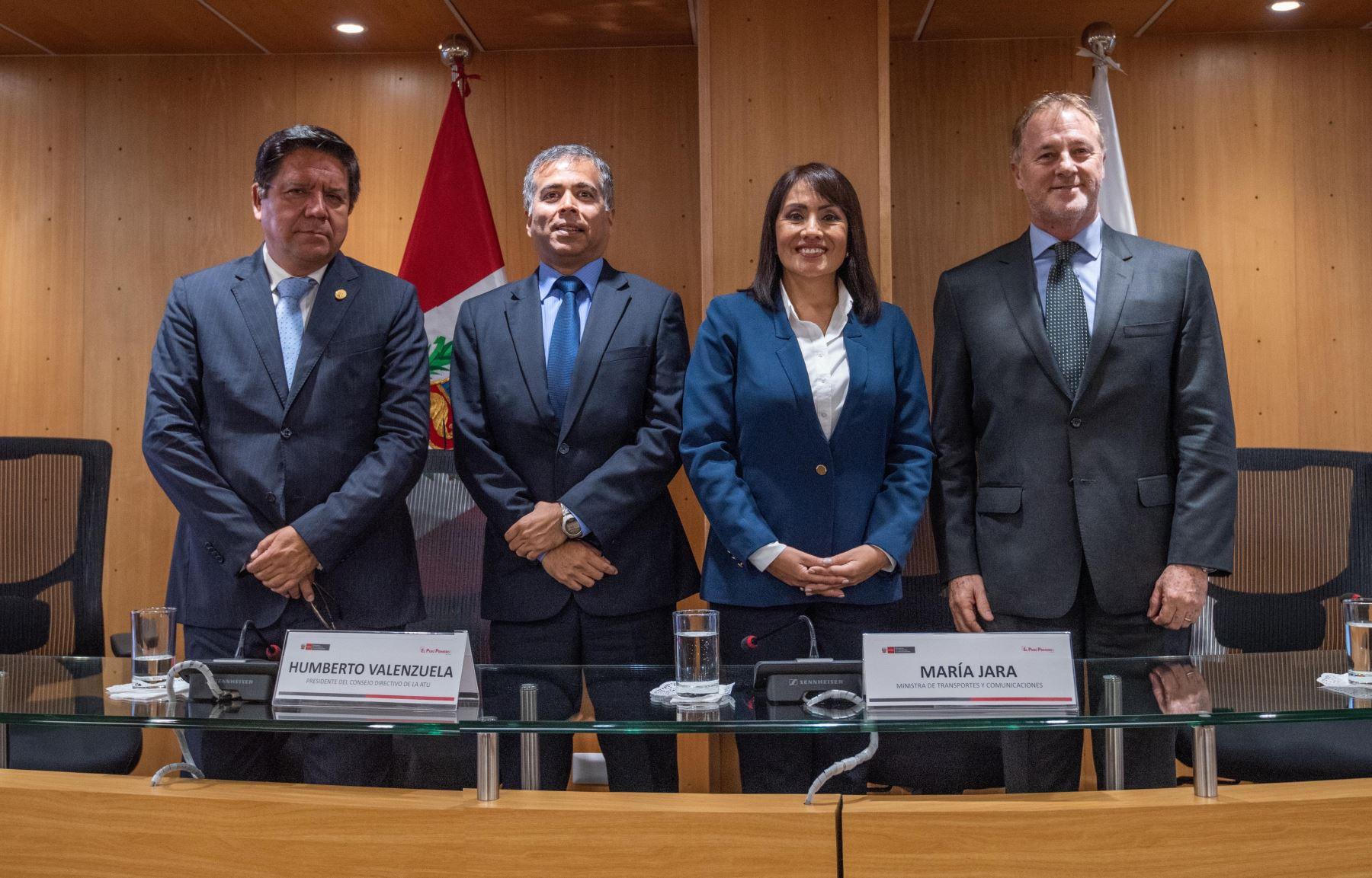 Hoy se instaló el consejo directivo de la Autoridad del Transporte Urbano para Lima y Callao (ATU) e inició sus funciones.Foto: MTC
