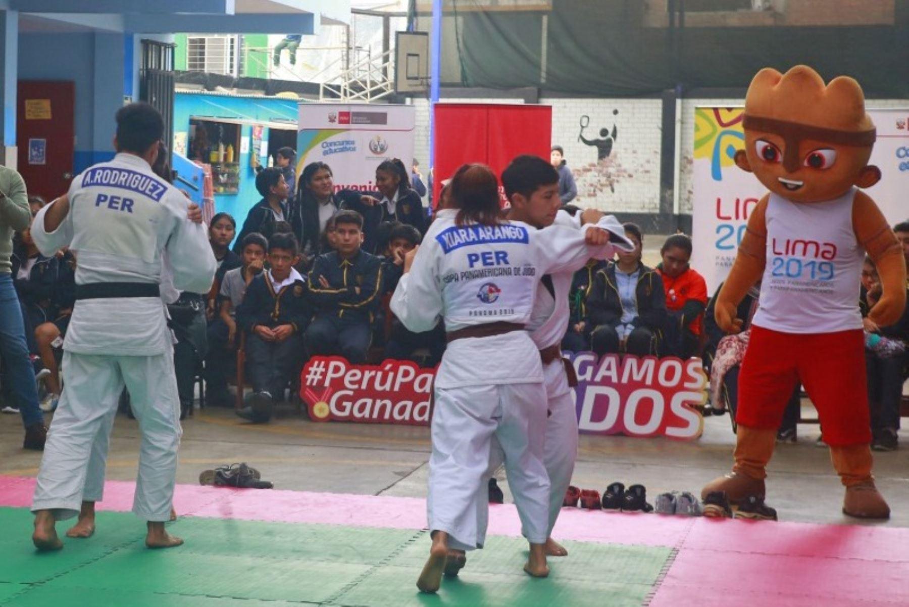 Exhibición de Judo en Los Olivos por los Juegos Panamericanos. Foto: ANDINA/Difusión