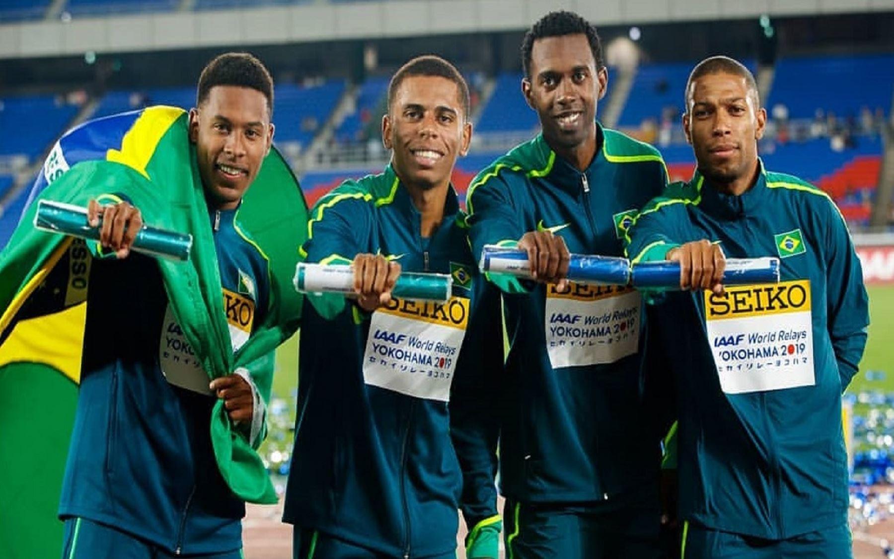 Paulo André Oliveira, Derick Silva, Rodrigo Pereira y Jorge Henrique Costa  Foto: cortesía: Óscar Muñoz Badilla / IAAF