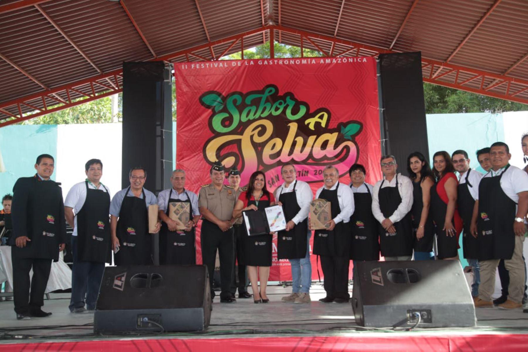 San Martín ya vive la fiesta por festival gastronómico Sabor a Selva que se desarrolla en Moyobamba. ANDINA/Difusión
